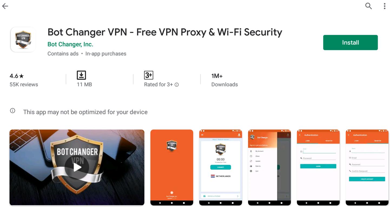 Bot Changer VPN For Windows