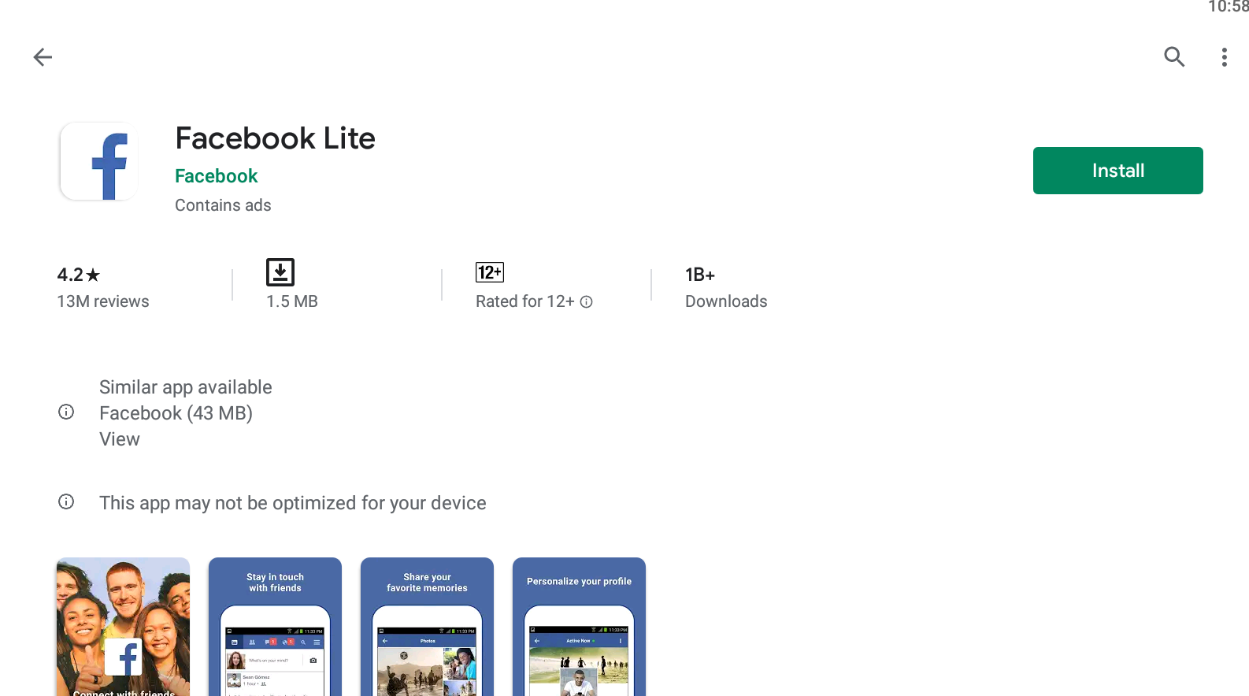 Facebook Lite For Windows