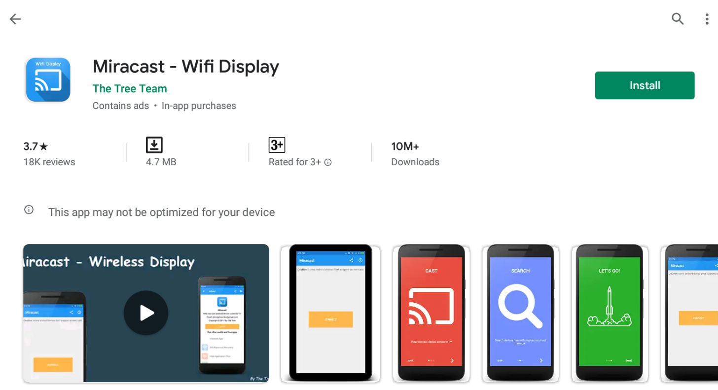 Wifi Display (Miracast) For Windows