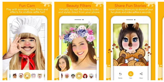 4 YouCam Fun - Snap Live Selfie Filters & Share Pics