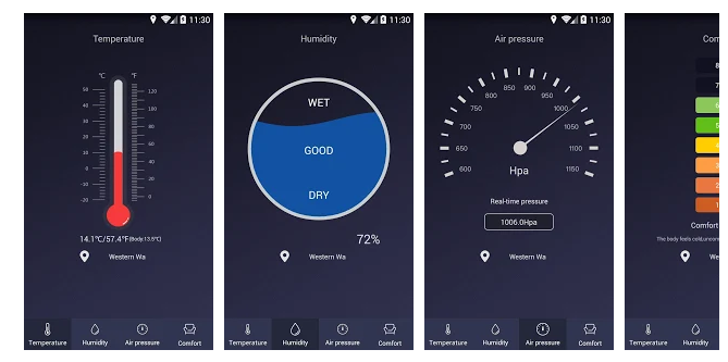 6 Thermometer - Hygrometer & Ambient Temperature app