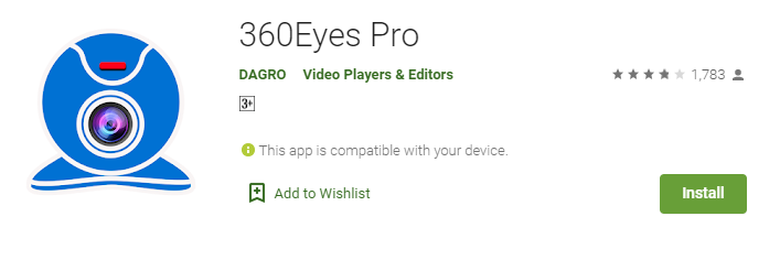 360 eye camera app for Mac