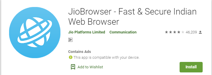 Jio Browser For mac