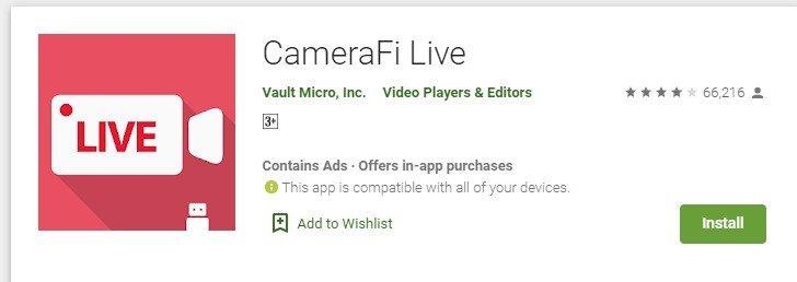 Camerafi Live for mac