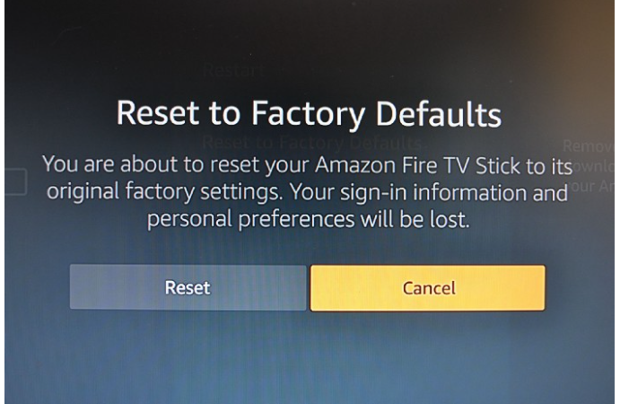 How do i reset my firestick without the remote