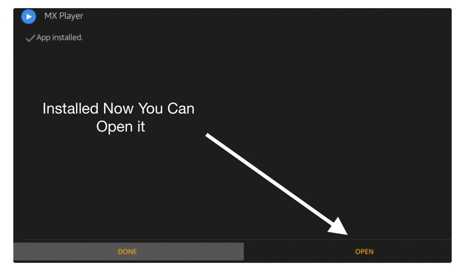 After installing, click open.