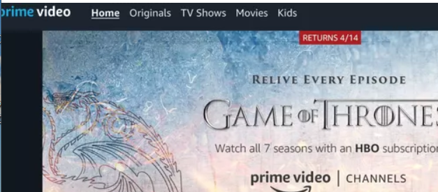After that, inside the application, search for Prime Video Channels of Amazon by going downwards.