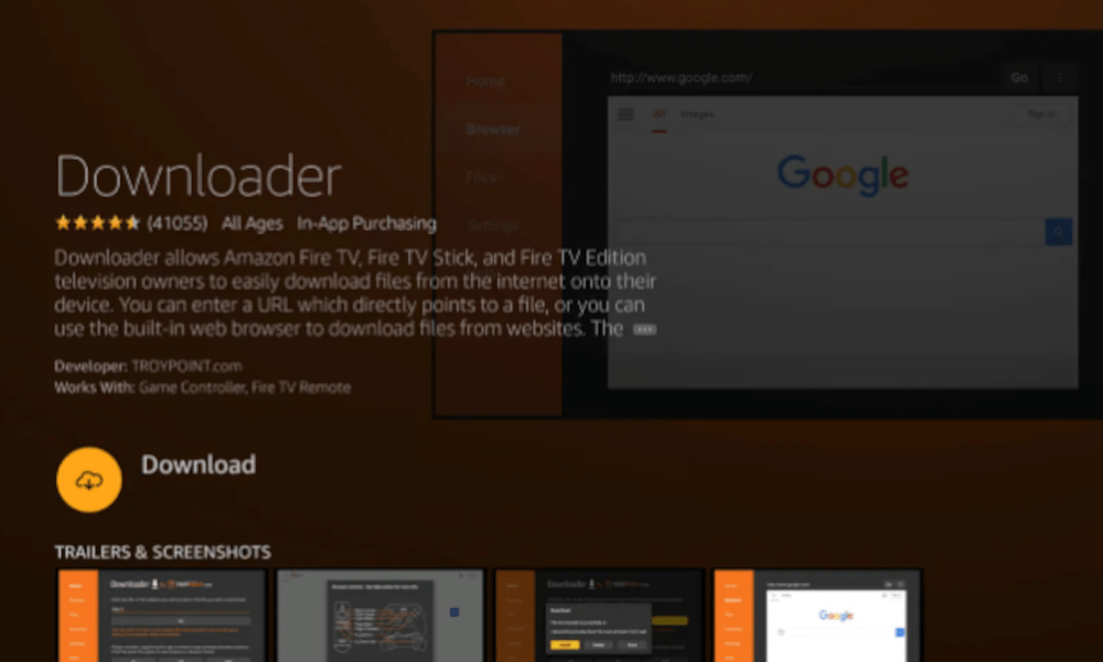 Introduce and open the downloader application