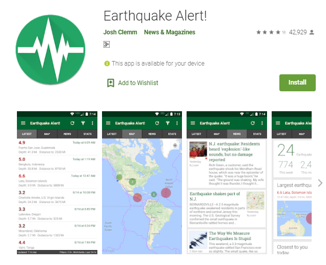 Earthquake Alert App For Mac